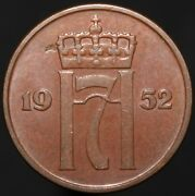 1952   Norway 5 Ore   Bronze   Coins   Km Coins
