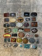 Lot Of 36 Thirty Six Assorted Variety Of Vintage Belt Buckles