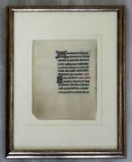 Antique Framed Book Of Hours 15th Century French Gouache Gold Leaf