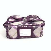New Thirty-one Perfect Potluck Set-square Party Thermals Only Bag Plum Plaid
