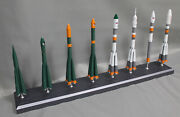 1144 Scale Model Of Russian R7 Rocket Family Made Of Metal 14 Tall