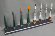 1144 Scale Model Of Russian R7 Rocket Family, Made Of Metal 14 Tall