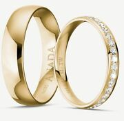 585 Gold - Wedding Ring - Yellow Gold With 50 Diamonds - 040ct. R-if