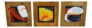 Tony Evans Triptych Abstract Art Painting S On Metal