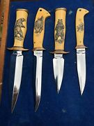 Gil Hibben Fighting Grizzly Set Custom Hand Made Knives By Gil Hibben 76/200