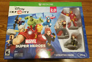 New Sealed Disney Infinity Toy Box 2.0 Marvel Super Heroes Starter Pack Xbox One