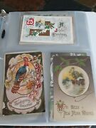 Lot Of 80+ Antique Vintage Post Cards Christmas New Year Thanksgiving Valentine