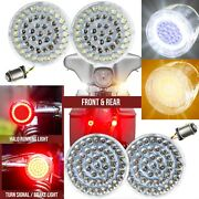 Eagle Lights Value Line Harley Front And Rear Led Turn Signal Kit W/ Smoked Lenses