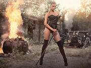 V0734 Leonie Hagmeyer-reyinger Fire Hot Rod Babe Car Decor Wall Print Poster Ca