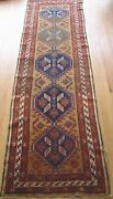Antique Tribal Kurdish Camel Hair Hand Knotted Wool Oriental Rug 2and0399 X 10and0394