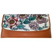 Swank Bags Leather Hand Painted Woman's Purse/wallet, Ab-hp-580