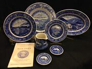 Baltimore And Ohio Railroad Co. / Blue China / Scammell And Shenango Pieces W/bookandnbsp