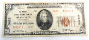 1929 20 National Bank Shamokin Pa 5625 National Currency Paper Money Note