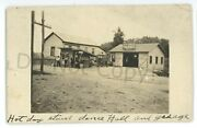 Rppc Roadside Garage Gas Station Hot Dog Stand Clifford Ny Real Photo Postcard