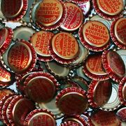 Soda Pop Bottle Caps Lot Of 25 Mission Cherry Plastic Lined Unused New Old Stock