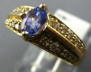 1.0ct Diamond And Aaa Tanzanite 14kt Yellow Gold 3d Oval And Round Engagement Ring
