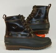 Sperry Top Sider Waterproof Decoy Duck Leather Brown Boots Sz 11 New Rare