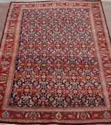 Antique Kurdish Bijarr Herati Hand-knotted Wool Oriental Rug Cleaned 4and0398 X 7and039