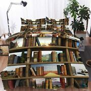 Leather Bookcase 3d Printing Duvet Quilt Doona Covers Pillow Case Bedding Sets