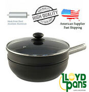 Stir Fry Pan 10 12 Inch Made From Hard Anodized Aluminum High Quality Us Stock