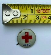 American Red Cross Litho Pinback Button Pin Authentic 1920 3/5