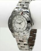 Retired Pandora Imagine Watch In Stainless Steel With White Sapphires