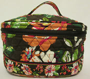 Nwt Retired Vera Bradley Home And And Away Cosmetic Bag Makeup Travel Case Organ