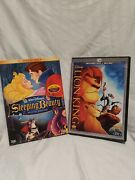 2 Dvd Lot Sleeping Beauty Special And The Lion King Diamond Edition Blu-ray Dvd