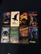 Vhs Horror 8 Video Lot Last House On The Left Omen 2 The Thing Pet Sematary Two