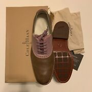 C10041 Nib Cole Haan Air Colton Saddle 8.5 M Dusty Brown Hibiscus Oxford Brogues