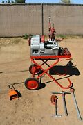 Used Thred O Matic A60 Portable Pipe Threading Machine W/ Accessories 1/2-2