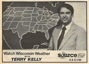 1980 Tv News Adterry Kelly Weather On Wkow In Madison,wisconsin