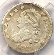 1821 Large Date Jr-2 Capped Bust Dime 10c - Pcgs Vf Details - Rare Variety