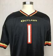 Menand039s Champion 2001 Xfl Las Vegas Outlaws Western Division Football Jersey Xl-48