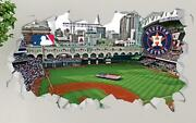 Houston Astros Minute Maid Park Custom Wall Decals 3d Wall Stickers Art Op111