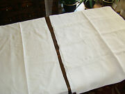 Lot 2 Vintage/antique Hand/machine Embroidered Tablecloths Off White Linen