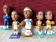 5 New Orleans Hornets Bobble Head Dolls - Early 2000and039s - Perfect In Orig Boxes