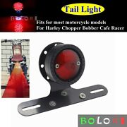 Motorcycle Led Brake Stop Tail Light Licence Plate Light Mount For Harley Dyna