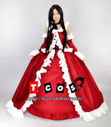 Pandora Hearts Lacie Baskerville Gothic Lolita Cosplay Costume Red Dress C018