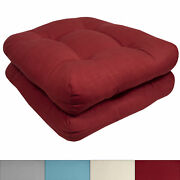 Indoor-outdoor Reversible Patio Seat Cushion Pad 2 4 6 Or 12 Pack