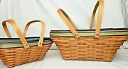 Longaberger 2003 Leadership Excellence Basket Combo Large And Small Very Rare