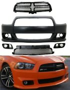 2011-14 Dodge Charger Srt8 Style Front Bumper Kit Pp Grill Highest Quality Fit