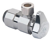 Angle Stop Valve, .5 Push Connect X 3/8-in. Compression