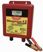Electric Fence Charger, 30-mile, Low Impedance, 12-volt Battery