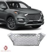 Fit Hyundai Tucson 2019 2020 Front Upper Grill Grille Mesh Sport Style Chrome