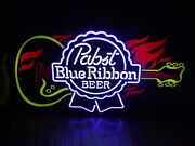 Pabst Blue Ribbon House Of Blues Led Beer Bar Guitar Led Sign Man Cave Pbr New