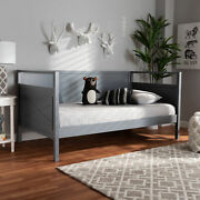 Cintia Rustic Cottage Farmhouse Style Wooden Twin Size Kids Sofa Daybed Frame