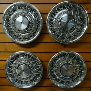 Set New Genuine Oem 1975 To 1984 Cadillac Deville Fleetwood Wire Spoke Hubcap 15