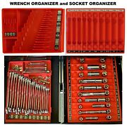 Wrench And Socket Organizer Tool Sorter Holder For Craftsman Tools Toolbox Tray