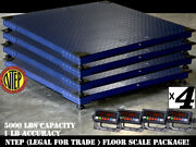 Ntep 4and039 Floor Scale Warehouse Package Deal 5000 Lbs X 1 Lb 5 Year Warranty